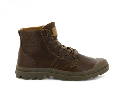 Boots | Pallabrousse Leather Cathay Spice/Mid Gum – Palladium Mens