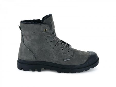 Boots | Pallabrousse Leather S Dk Gull Gray/Anthracite – Palladium Mens