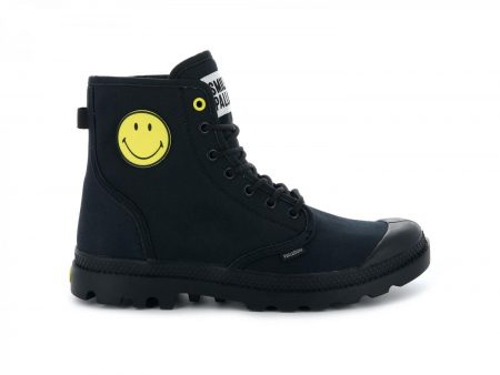High Tops | Pampa Smiley Fest Bag Anthracite – Palladium Womens|Mens