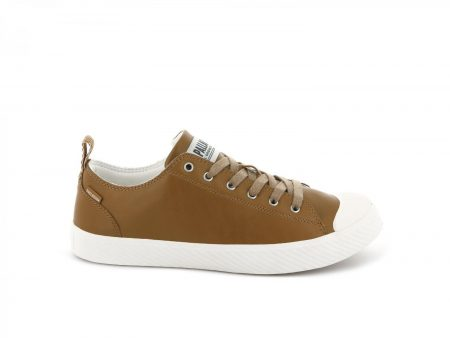 Low Tops | Pallaphoenix Low Leather Cathay Spice/Marshmallow – Palladium Womens|Mens